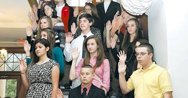 Blount County youth being sworn in